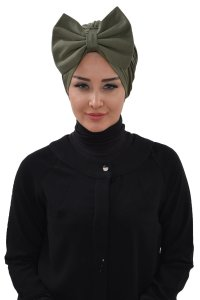 Julia - Khaki Cotton Turban