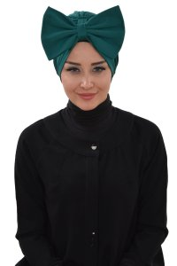 Julia - Dark Green Cotton Turban
