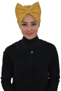 Julia - Mustard Cotton Turban