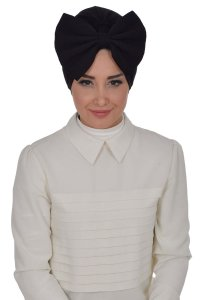 Julia - Black Cotton Turban