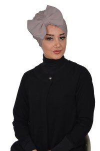 Julia - Taupe Cotton Turban