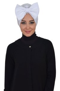Julia - White Cotton Turban