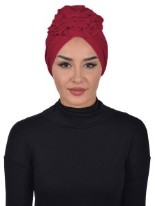 Kerstin Bordeaux Cotton Turban Ayse Turban 324807a