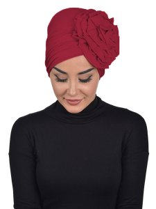 Kerstin Bordeaux Cotton Turban Ayse Turban 324807b