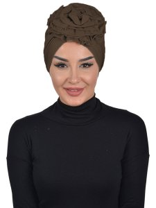 Kerstin Brown Cotton Turban Ayse Turban 324809a