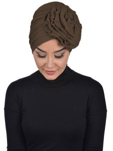 Kerstin Brown Cotton Turban Ayse Turban 324809b