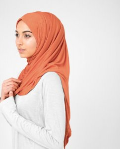 Koi - Orange Viscose Jersey Hijab 5VA73a