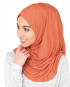 Koi - Orange Viscose Jersey Hijab 5VA73b