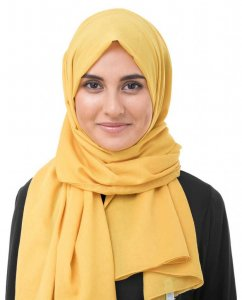 Lemonade Yellow Cotton Voile Hijab InEssence 5TA63a