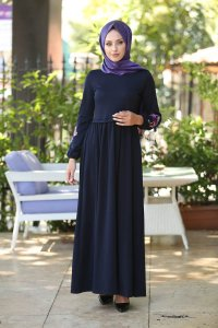 Lexie - Navy Blue Dress - Insirah
