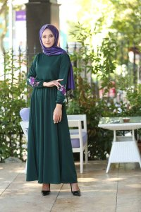 Lexie - Dark Green Dress - Insirah