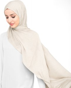Light Beige Viscose Jersey Hijab 5VA67a