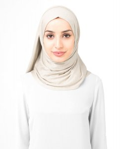 Light Beige Viscose Jersey Hijab 5VA67b