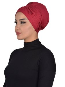 Linda Bordeaux Cotton Turban Ayse Turban 321907b