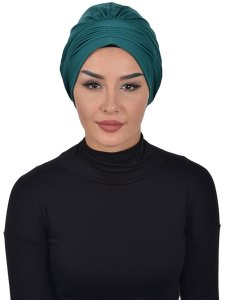 Linda Dark Green Cotton Turban Ayse Turban 321910a