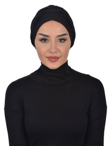 Linda Black Cotton Turban Ayse Turban 321901b