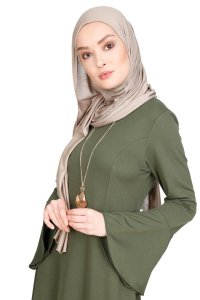 Maryam Khaki Dress Miss Halima 280271b