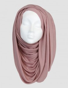 Sara - Gammelrosa Maxi Jersey Hijab From Silk Route 5G06