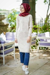 Millie - Stone Grey Tuniq - Insirah