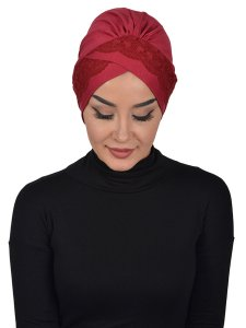 Molly Bordeaux Lace Bomull Turban Cancer Krebs Ayse Turban 322303-1