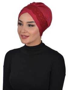 Molly Bordeaux Lace Bomull Turban Cancer Krebs Ayse Turban 322303-2