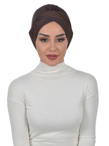 Molly Brun Lace Bomull Turban Cancer Krebs Ayse Turban 322205-1