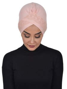 Molly Gammelrosa Lace Bomull Turban Cancer Krebs Ayse Turban 322207-1