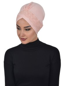 Molly Gammelrosa Lace Bomull Turban Cancer Krebs Ayse Turban 322207-2