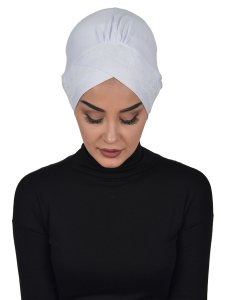 Molly Vit Lace Bomull Turban Cancer Krebs Ayse Turban 322212-1