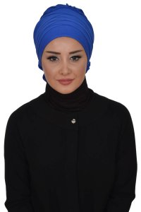 Monica - Blue Cotton Turban