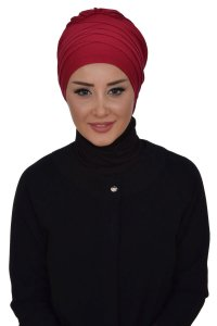 Monica - Bordeaux Cotton Turban