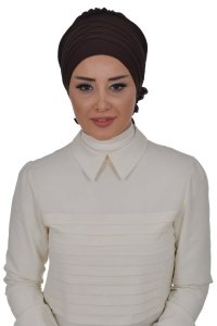 Monica - Brown Cotton Turban