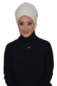 Monica - Creme Cotton Turban
