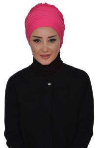 Monica - Fuchsia Cotton Turban