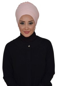 Monica - Dusty Pink Cotton Turban