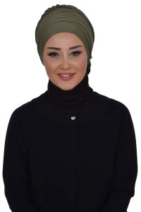 Monica - Khaki Cotton Turban