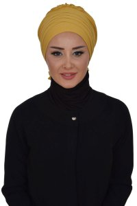 Monica - Mustard Cotton Turban