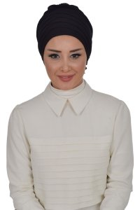 Monica - Black Cotton Turban