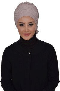 Monica - Taupe Bomull Turban