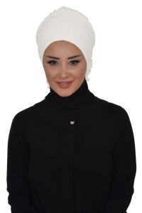 Monica - White Cotton Turban