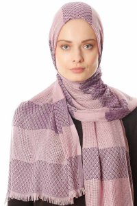 Necla - Dark Pink Two Colored Hijab - Özsoy