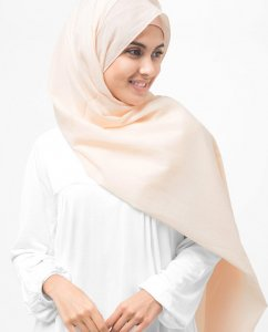 Nude - Powder Cotton Voile Hijab 5TB31b