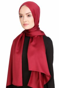 Nuray Glansig Bordeaux Hijab 8A15b