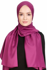 Nuray Glossy Purple Hijab 8A13a