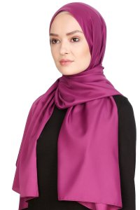 Nuray Glossy Purple Hijab 8A13b