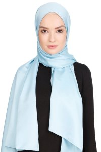 Nuray Glossy Light Blue Hijab 8A04a