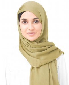 Olive Oil Olive Viscose Hijab InEssence 5HA54a