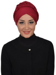 Olivia Bordeaux Bomull Turban Cancer Krebs Ayse Turban 321003-1
