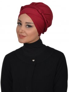Olivia Bordeaux Bomull Turban Cancer Krebs Ayse Turban 321003-2