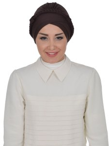 Olivia Brun Bomull Turban Cancer Krebs Ayse Turban 321005-1